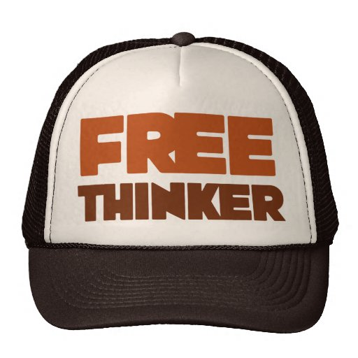 Free Thinker using Logic and Reason Trucker Hat