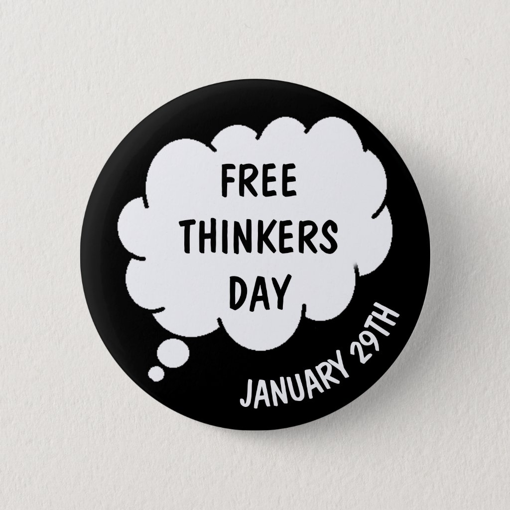 Free Thinkers Day is January 29th Button