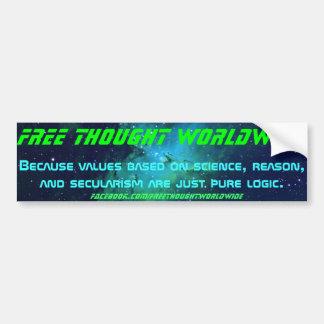 Free Thought Worldwide Bumper Sticker