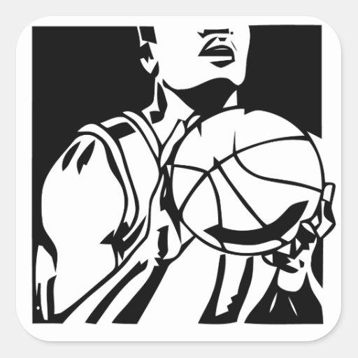 Free throw shooter basketball Sticker