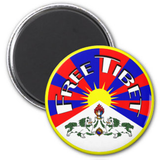 Free Tibet Badge 2 Inch Round Magnet