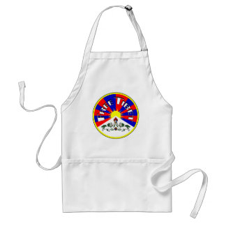 Free Tibet Badge Adult Apron