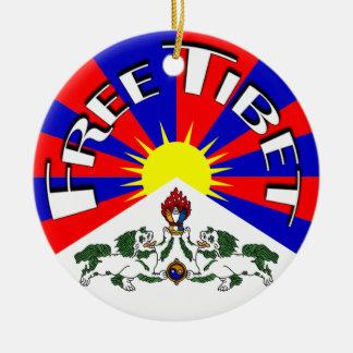Free Tibet Badge Ceramic Ornament