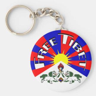 Free Tibet Badge Basic Round Button Keychain