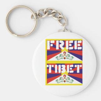 Free Tibet! Basic Round Button Keychain