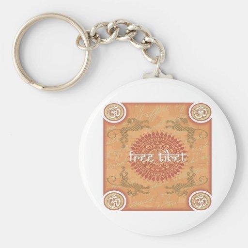 Free Tibet Basic Round Button Keychain