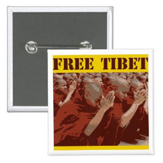 Free Tibet Buddhist Monks Button