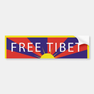 Free Tibet Bumper Sticker Car Bumper Sticker