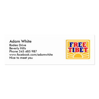 Free Tibet Business Cards