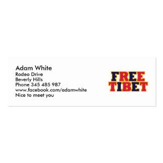 Free Tibet Business Card Templates