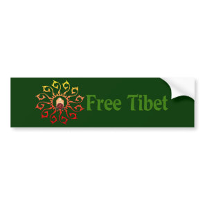 Free Tibet Candle Bumper Sticker
