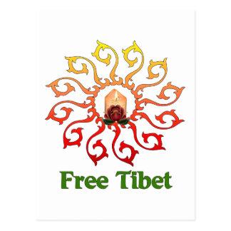 Free Tibet Candle Postcard