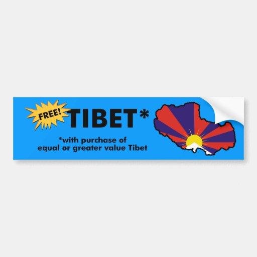 Free Tibet* Car Bumper Sticker