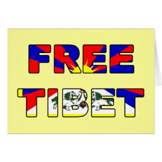 Free Tibet Card