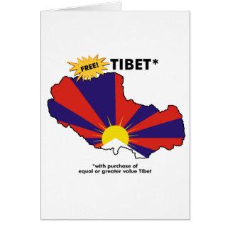 Free Tibet* Card