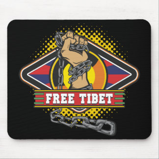 Free Tibet Chains Mousepads