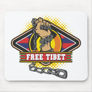 Free Tibet Chains Mouse Pads