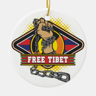 Free Tibet Chains Ornament