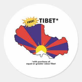 Free Tibet* Classic Round Sticker