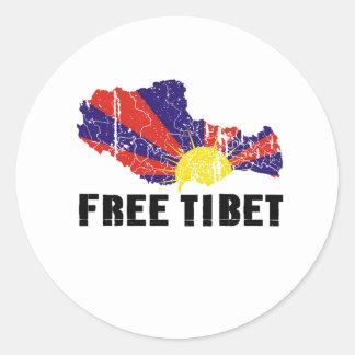 FREE TIBET CLASSIC ROUND STICKER