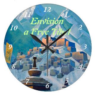 Free Tibet clock