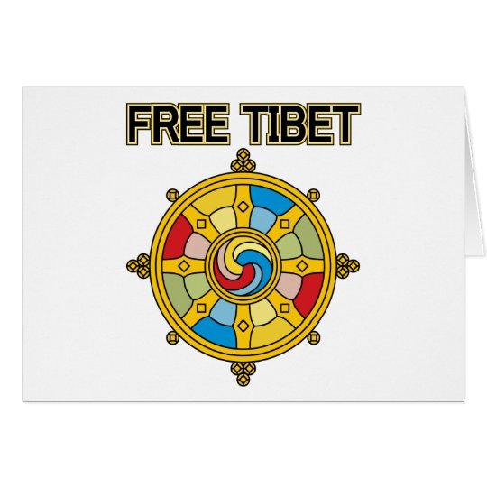 Free Tibet Dharmacakra Card