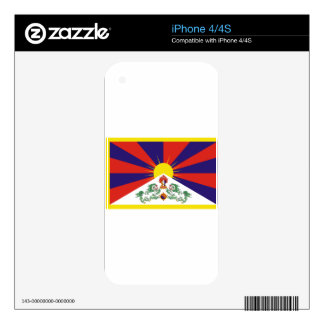 Free Tibet Flag Decal For iPhone 4