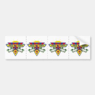 Free Tibet Flag Logo Bumper Sticker