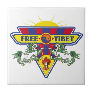 Free Tibet Flag Logo Ceramic Tile