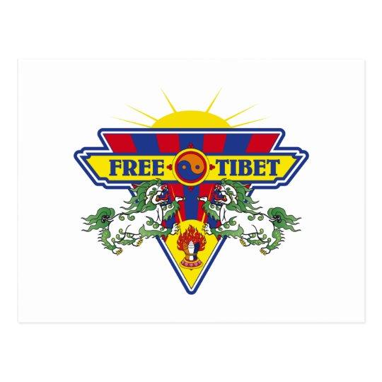 Free Tibet Flag Logo Postcard