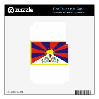 Free Tibet Flag - Peu Rangzen བོད་རང་བཙན་ Decals For iPod Touch 4G