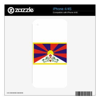 Free Tibet Flag - Peu Rangzen བོད་རང་བཙན་ iPhone 4S Decals