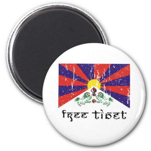 Free Tibet Gifts 2 Inch Round Magnet