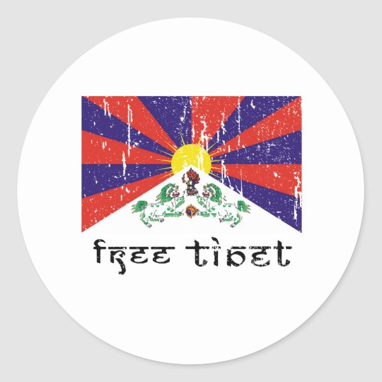 Free Tibet Gifts Classic Round Sticker