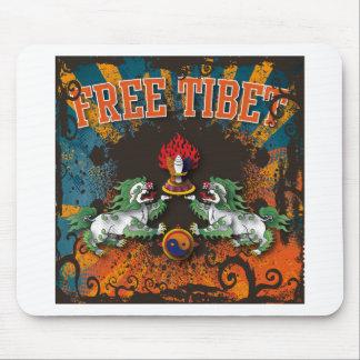 Free Tibet Grunge Art Mousepads