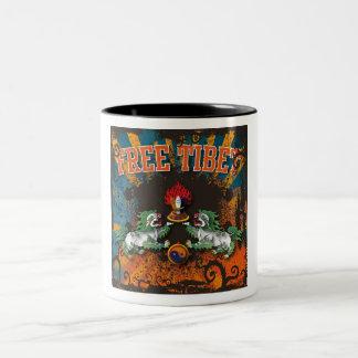 Free Tibet Grunge Art Two-Tone Coffee Mug