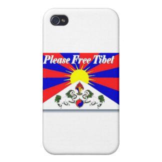 Free Tibet iPhone 4 Cases