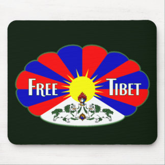 Free Tibet Label Mouse Pad