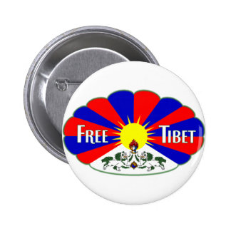 Free Tibet Label Pinback Buttons