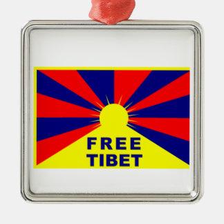 Free Tibet Metal Ornament