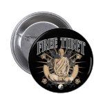 Free Tibet Monk Buttons