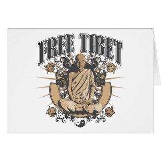 Free Tibet Monk Greeting Card
