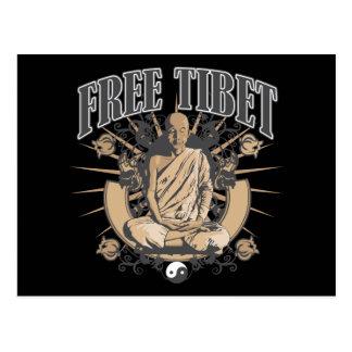 Free Tibet Monk Postcard