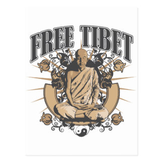Free Tibet Monk Post Cards
