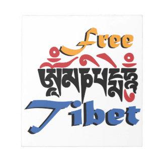 Free Tibet Note Pad