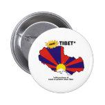 Free Tibet* Pinback Buttons