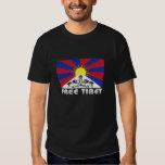 Free Tibet Protest Black T-shirt