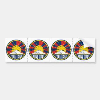 Free Tibet Round Grunge Bumper Sticker