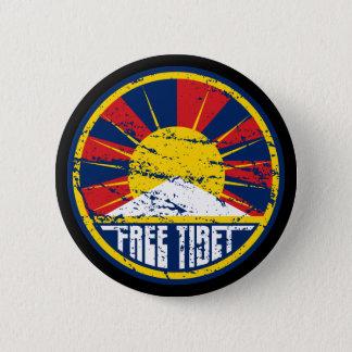 Free Tibet Round Grunge Button