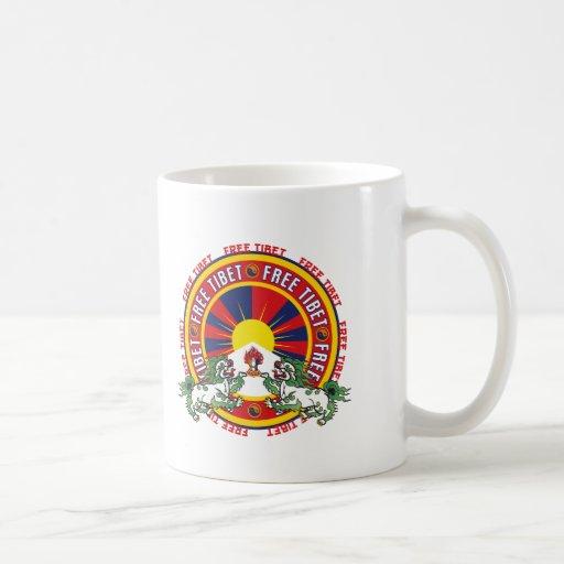 Free Tibet Round Logo Classic White Coffee Mug